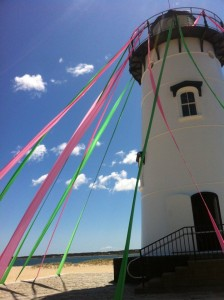 Edgartown lighthouse pink and green weekend